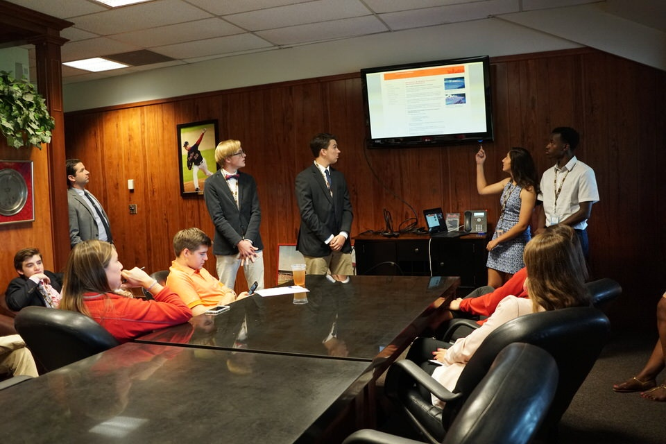 Acing the Pitch: Sports Management Students Present Final Projects to PawSox Executives
