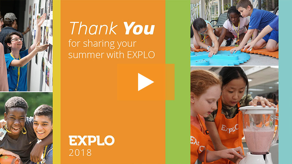 Thank You For Sharing Your Summer With EXPLO