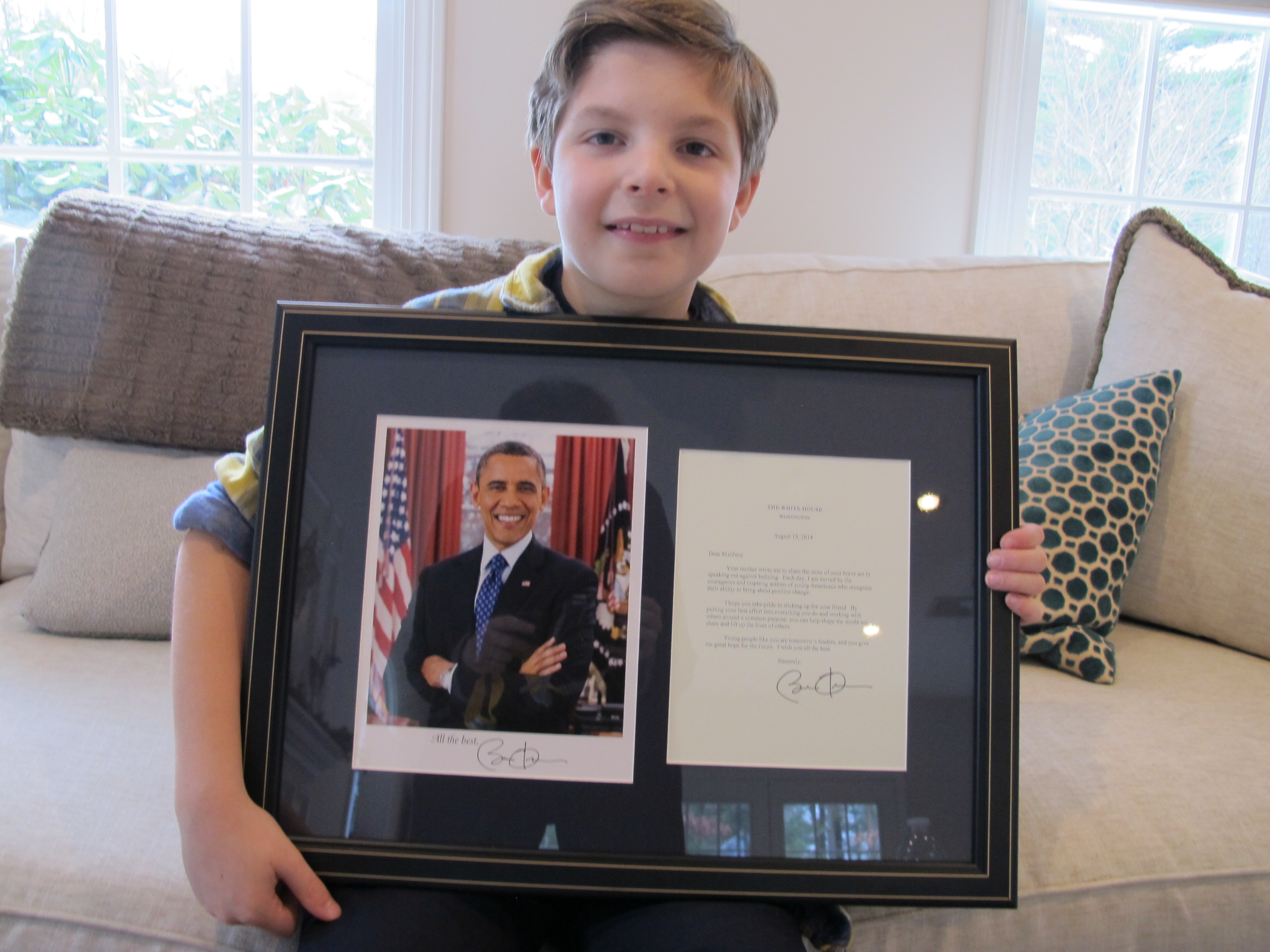 President Obama Commends Student for Stopping Bullying